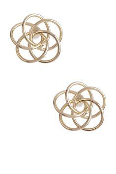 14K Yellow Gold Love Knot Stud Earrings by Candela on @HauteLook