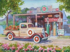 Old Schoolhouse painting,Mel Wolf Fine Art / Vintage Auto and ...