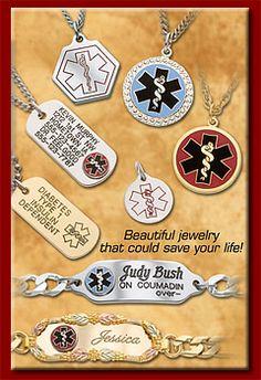 Oneida Medical Jewelry - Medical Alert Bracelets has the one I want. Epilepsy Awareness, Diabetes Awareness, Medical Id Bracelets, Pen Case, Jewelry Crafts, Jewelry Design, Type 1, Diabetic Bracelets, Addison's Disease