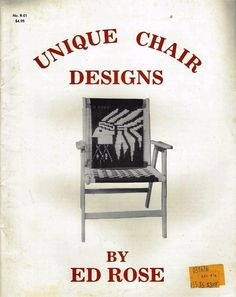 UNIQUE CHAIR DESIGNS Vintage Macrame Patterns for Lawn Patio Chairs Ed Rose F5 #EdRose