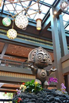 Tiki Icon added to Disney's Polynesian Village Resort Fountain