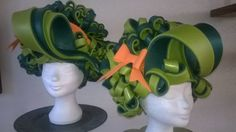 Double green Curly wig made by Lady Mallemour