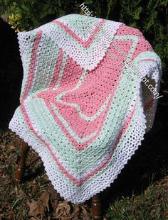 Box stitch afghan (rectangle), free pattern by Doris Turner  #crochet #blanket #throw