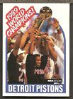 For Sale - DETROIT PISTONS WORLD CHAMPIONS CARD - 1989 NBA HOOPS CARD  #353 - http://sprtz.us/PistonsEBay