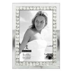 "Malden 4"" x 6"" Jeweled Mirrored Frame"