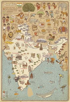 India Illustrated Map