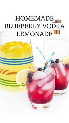 Vodka Lemonade, Lemonade Cocktail, Cocktail Drinks, Cocktail Recipes, Party Food Bars, Party Food And Drinks, Fun Drinks, Alcoholic Drinks, Refreshing Drinks