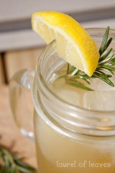 Rosemary Lemonade (with no refined sugar!)