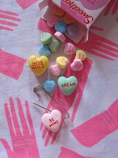 DIY Conversation Heart Charms