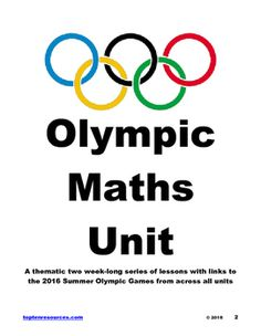 Olympic Maths! This two week long series of 10+ sessions contains lesson plans, teacher modelling, student work samples, photographs of lessons in action and all the resources you need for a fully themed maths unit based on the 2016 Summer Olympic Games. All lessons have been created by Numeracy Team Leaders, tried and tested in real classrooms and based on the core curriculum.