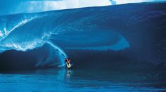 Teahupoo. One of the sickest waves in the world. Surfed by an amazing waterman, Laird Hamilton.
