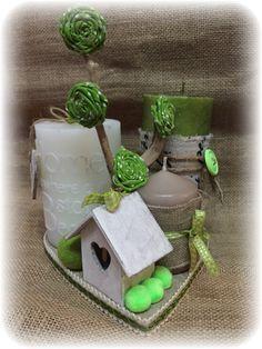 composizione candele verde