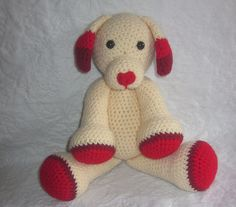 Sweetheart the Valentine's Day Puppy Crochet by MelissasPatterns