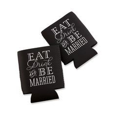 """Kate Aspen """"Eat, Drink & Be Married"""" Can Holder, Set of 24"""