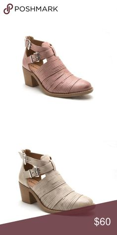 Ladies high top ankle straps chunky heels booties Spring is here with these stylish high top ankle cross buckle straps booties. This listing is for the blush color and the stone color available in different listing low chunky heels around 2 inches, really unique design, PU MATERIAL, brand new in box, true to size. NO TRADES SHOEROOM21 boutique Shoes Ankle Boots & Booties