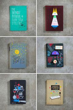 Pretty painted books by Frank Chimero (via designworklife)
