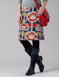 Can never go wrong with an A-line skirt. Digging bright, bold colors right now.