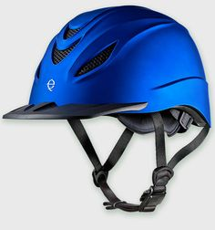 No barn has seen a helmet like this. Check out Troxel's Intrepid Indigo