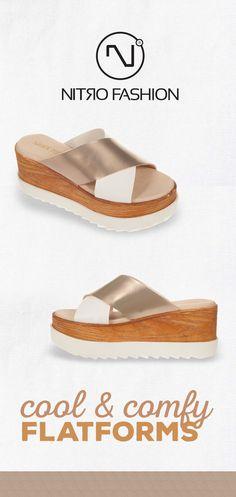 #handmade #leather #flatforms #madeingreece #nitrofashion Handmade Leather, Birkenstock, Espadrilles, Comfy, Sandals, Summer, Shoes, Fashion, Espadrilles Outfit