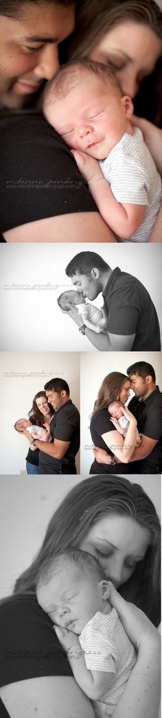 Newborn photography. Parent posing ideas. >> McKenna Pendergrass Photography