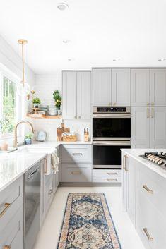 Kitchen Ikea, Kitchen Room Design, Kitchen Cabinet Design, Modern Kitchen Design, Home Decor Kitchen, Interior Design Kitchen, Home Kitchens, Kitchen Dining, Grey Kitchen Designs