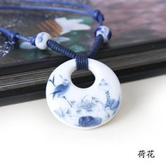 Hand-woven national wind act the role ofing is tasted Handmade ceramic necklace necklace Sweater necklace chain lotus ** Be sure to check out this helpful article. #CeramicPotteryAccessories