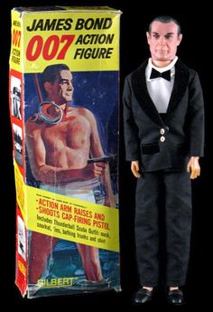 Bond Action Figure Thunderball with Sean Connery. Toy by Gilbert