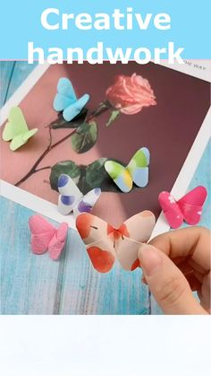 Diy Butterfly Decorations, Paper Butterfly Crafts, Cool Paper Crafts, Paper Flowers Craft, Paper Crafts Origami, Origami Easy, Origami Butterfly Easy, Paper Butterflies, Simple Origami Flower