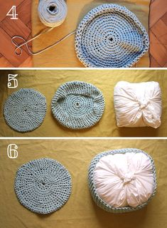 We have a new roommate, my self-crocheted pouf! It's been a while since I introduced you to my Zpagetti bowl. These zpaghetti balls are pretty big and the… DIY: crochet camouflage Dorothea Baumeister dorotheabaumeis Häkeln We have a new roommat Diy Crochet Pouf, Crochet Pouf Pattern, Diy Pouf, Crochet Mat, Crochet Motifs, Wire Crochet, Crochet Cushions, Crochet Pillow, Crochet Home