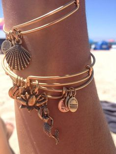 Alex and Ani.  Want this exact setup for summer!