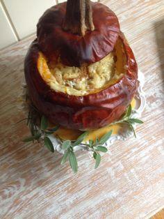 Roasted Pumpkin with Gruyere Cheese Fondu