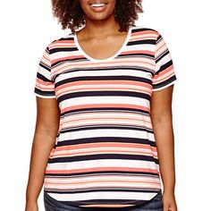 Stylus™ Short Sleeve Voop T-Shirt - Plus - JCPenney