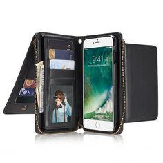 Women Men Imitation Leather Phone Case Card Holder Phone Bag Crossbody Bag For Iphone 7 Plus