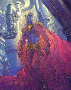 "Illustration of Krishna by Mukesh Singh for ""18 Days"" by Grant Morrison; this story is based on the Mahabharata"