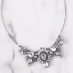 "Art Deco Diamond Statement Necklace Size: L 18.5"" with 2"" extension"