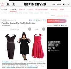 Domino Dollhouse featured in Nicolette Mason's Plus Size Pin Up Round Up on Refinery29!