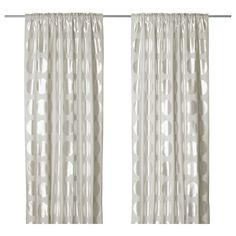 NINNI RUND Curtains, 1 pair - IKEA @mileidyss for dining room sliding doors since that room will be the darker color of the two that we picked. if you want a sheer panel in the middle for privacy you can also do that.