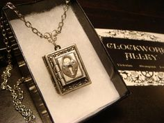 Tiny Heart Lock Double Book Locket Victorian by ClockworkAlley, $27.00 #jewelry #heart #heartlock #heartlocket #heartjewelry #steampunk #steampunkjewelry #booklocket #locket #necklace #silverheart