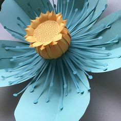 Wallflower 01 Paper Flower Template for Cricut and Silhouette (SVG DXF) Giant Paper Flowers, Diy Flowers, Flower Paper, Flower Diy, Origami Flowers, Diy Paper, Paper Art, Diy And Crafts, Crafts For Kids