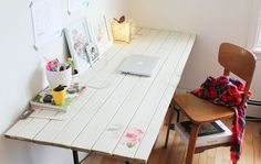 DIY Rustic Door Desk -- Little Blue Anchor