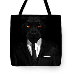 Black Panther Tote Bag by Filip Aleksandrov