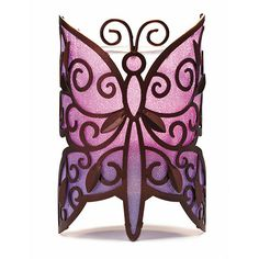 Porte lampion papillon Pour commander partout en France 06 12 29 05 31 www. Tea Light Candles, Tea Lights, Partylite, Butterfly Lighting, Votive Candle Holders, Purple Candle Holders, Candle Accessories, Glass Votive, Purple Butterfly
