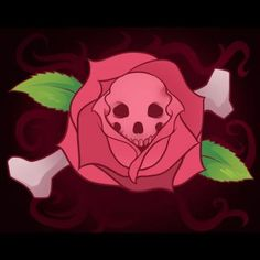 how to draw a skull rose