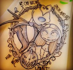 Jack and sally tattoo! Beautiful