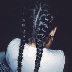 Braid your hair! Two Braid Hairstyles, Indian Hairstyles, Straight Hairstyles, Curly Hair Styles, Natural Hair Styles, Side French Braids, Colored Curly Hair, Body Wave Hair, Peruvian Hair