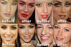 celeb nose jobs! SEEEE all the $$$ they spend on themselves! Don't let hollywood divas make you feel bad about yourself. YOU ARE beautiful just the way you are!