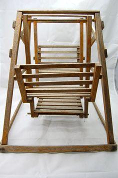 Antique wooden doll swing or glider. No broken pieces von hazelhome