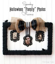 Spooky Halloween Family Photos Frame diy
