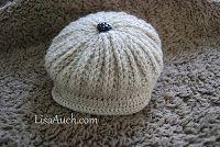 Boys Brimmed Cap Crochet Pattern (FREE #Crochet Pattern)