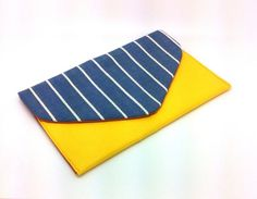 Blue Yellow Envelope Clutch Coin Purse Wallet Gift for Women Cotton Orange Chintz Bag Magnetic Snap Yellow Yellow Envelopes, Great Gifts For Women, White Clutch, Coin Purse Wallet, Envelope Clutch, Etsy Shipping, Blue Yellow, My Etsy Shop, Purses